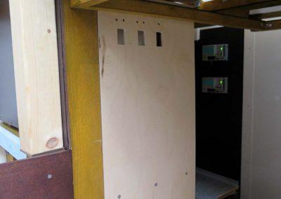 Panel für Schalter und Status-LED